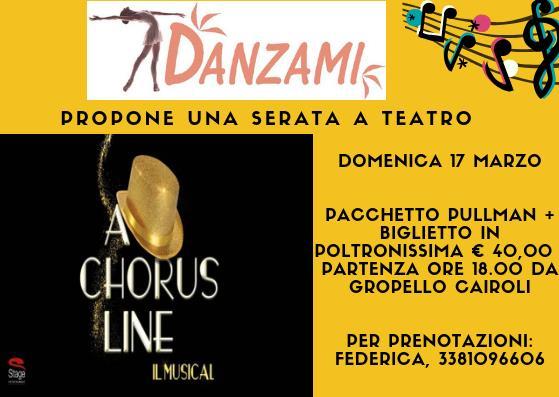 Musical Chorus Line presso il Teatro Nazionale di Milano danzami gropello cairoli pavia